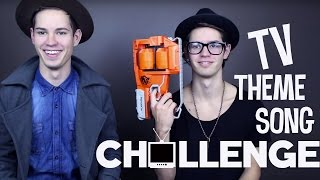 TV Theme Song Challenge | Jordan & Tyler