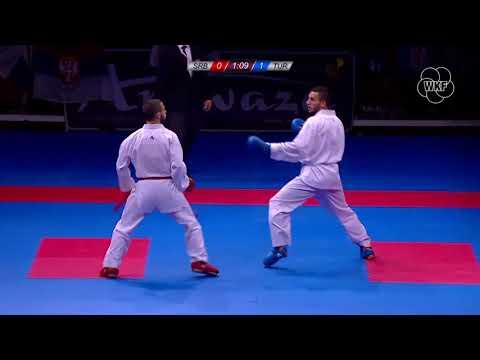 Stefan Joksic vs Burak Uygur - Final Male Kumite -67Kg (Karate European Championship 2018)