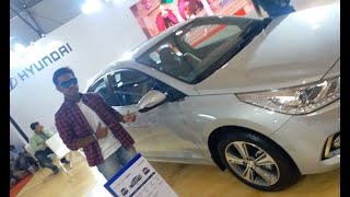Hyundai Verna 2019 Silver Walkaround & Interior at AutoCar Performance Show 2018 | Just Tube It