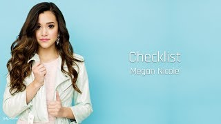 Download lagu Checklist - Megan Nicole (Lyrics)