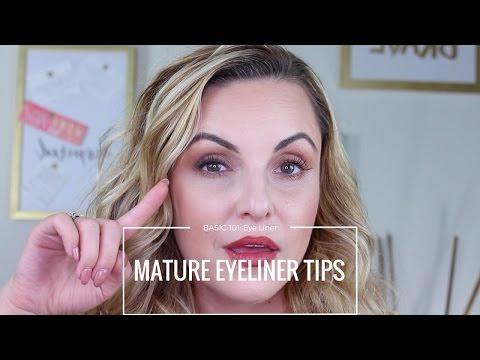 Beginners Guide on Eyeliner for Mature Eyes|| Basic 101 - Elle Leary Artistry