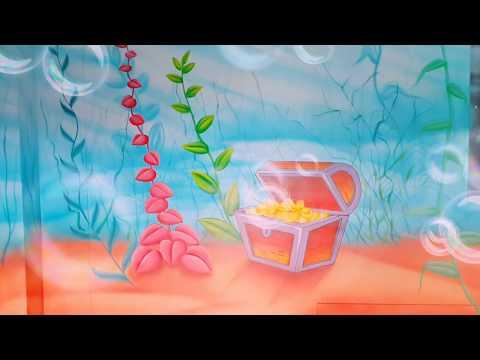 Underwater Wall Painting / venkatarts / Play School Wall Painting work