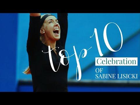 Top 10 emotional celebration of Sabine Lisicki