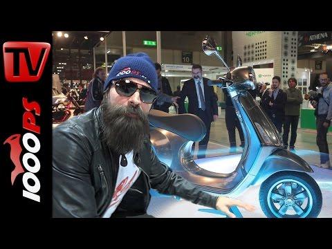 Vespa Elettrica - Erste Elektro-Vespa | K.OTs Motorrad Neuheiten 2017