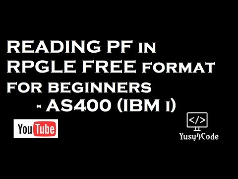 Reading PF using RPGLE free format