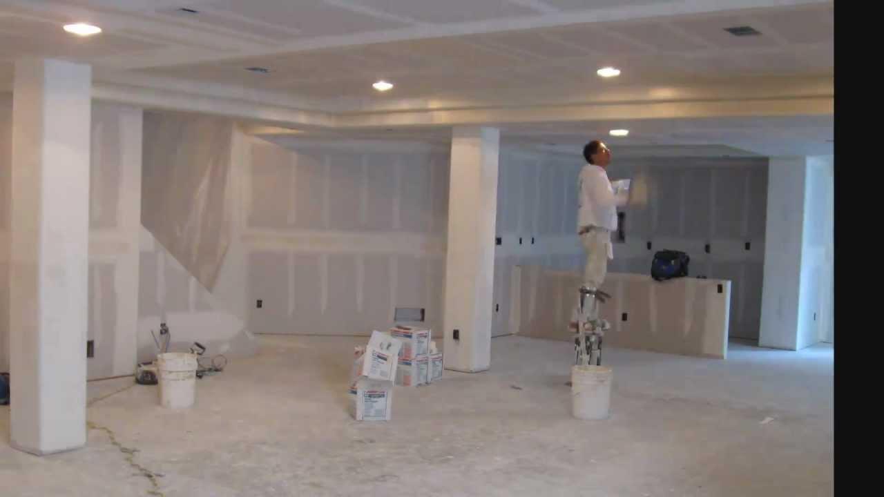 Drywalling a Basement Time Lapse Basement Finish  YouTube