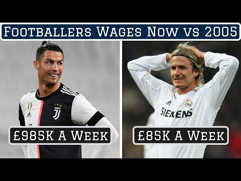 How Footballers Wages Have Changed Since 2005