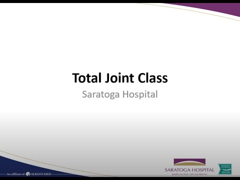 Saratoga Hospital Total Joint Replacement Class (2020)