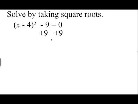 Solve by taking square roots - YouTube