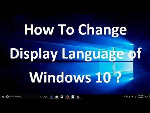 Change language start screen windows 10