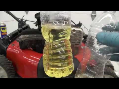 Troy Bilt Tb110 Lawn Mower Water In Carb Fuel Youtube