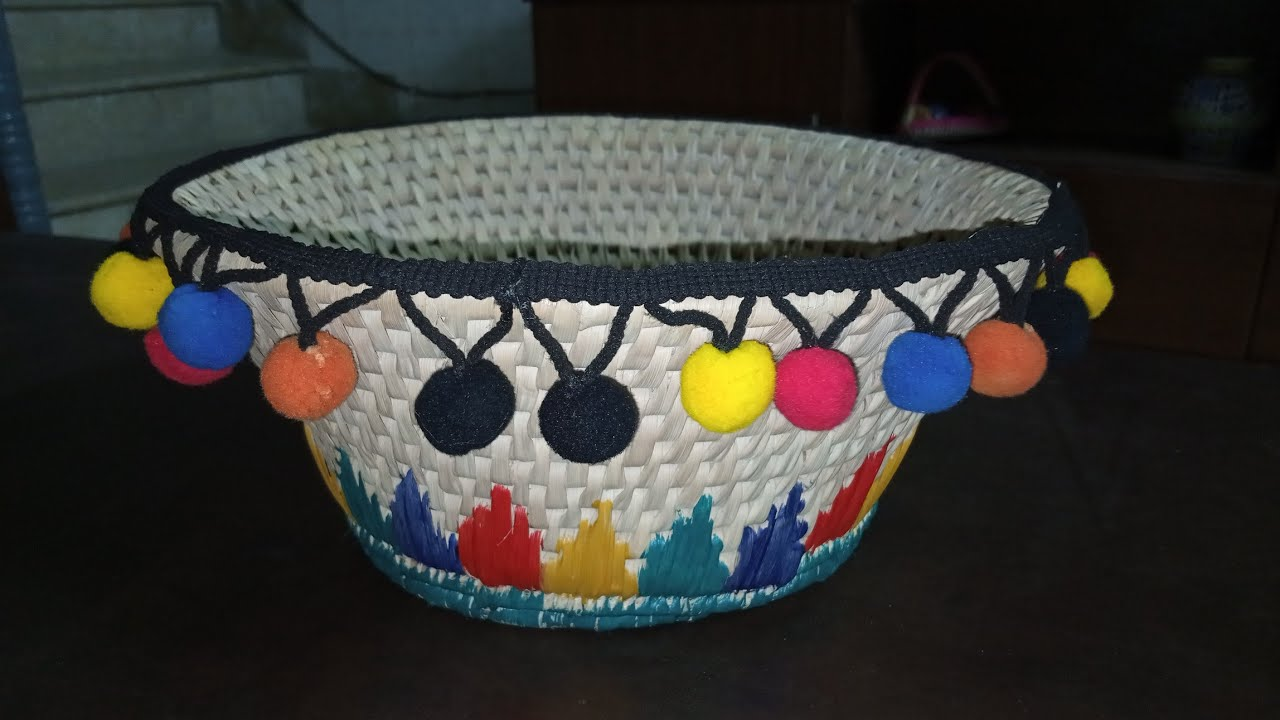 Simple basket decor/سادي ٽوڪري سجائڻ /how to decorate/tutorial/Sindhi/Hindi/Urdu