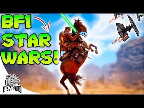 IF STAR WARS MET BATTLEFIELD ONE!! - ( Funny moments Vol.1)