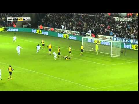 Swansea City 2 1 Arsenal Highlights   GoalsArena   Date  09 November 2014