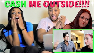 "David Dobrik ""CASH ME OUTSIDE GIRL VISITS MY HOUSE!!"" REACTION!!!"