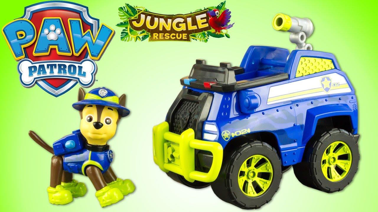 Pat Patrouille Chase Camion Jungle Rescue Paw Patrol Jouet Toy Review Patrulla De Cachorros Youtube