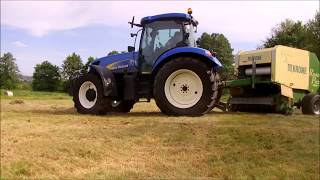 Sianokosy 2017 New Holland t6070  Ursus 912