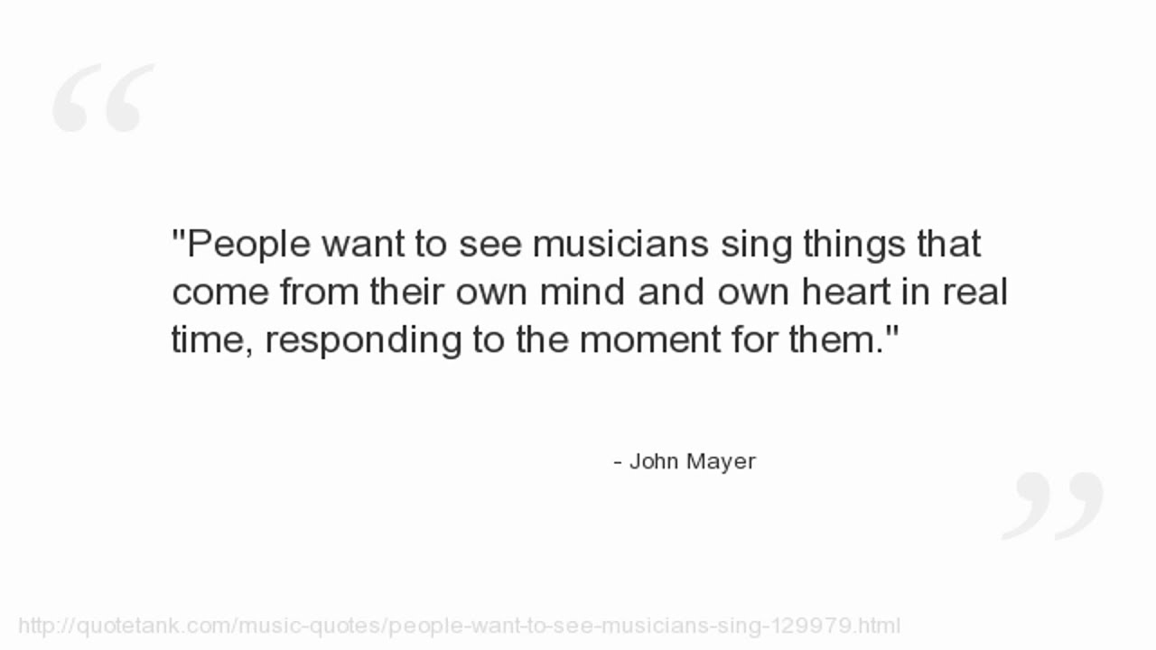 John Mayer Quotes - YouTube