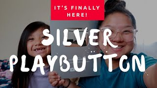 OPENING MY SILVER PLAYBUTTON FROM YOUTUBE