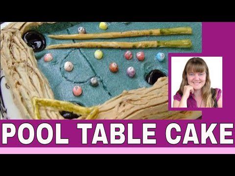 How To Make An Easy Billiard Pool Table Cake | Pool Table Cake | Billiard  Table Cake | Billiard Cake   YouTube