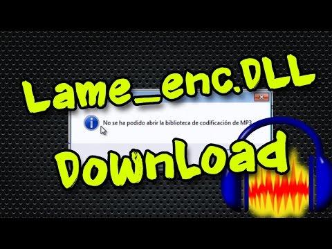 Descargar Lame_enc.dll para Audacity Download   Solucionar   Error Fix