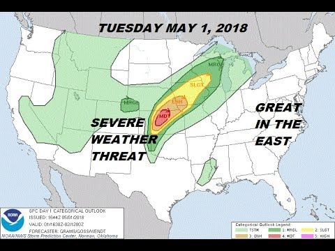 Severe Weather Moderate Risk Plains, Great Weather Eastern US