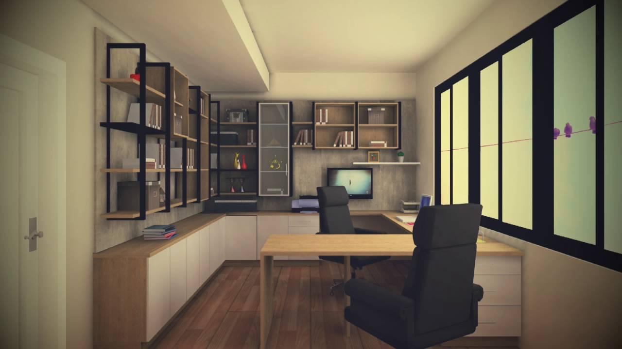 歐德系統傢俱 後現代 工業風 書房設計 - YouTube