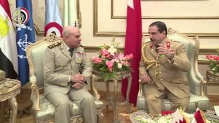 ملك البحرين يلتقى القائد العام للقوات المسلحة وزير الدفاع والإنتاج الحربى بمقر الأمانة العامة
