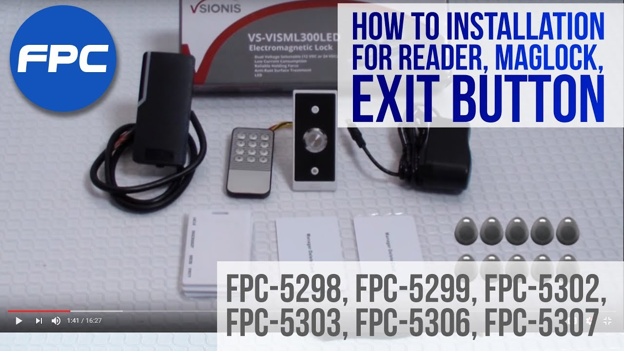 small resolution of how to wire outdoor reader magnetic lock and exit button kit