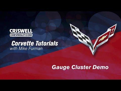 2015 Corvette Stingray Z51 & Z06 Gauge Cluster Demo