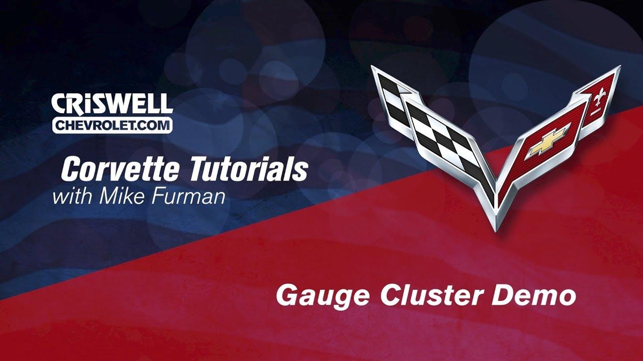 2015 Corvette Stingray Z51 Z06 Gauge Cluster Demo Youtube
