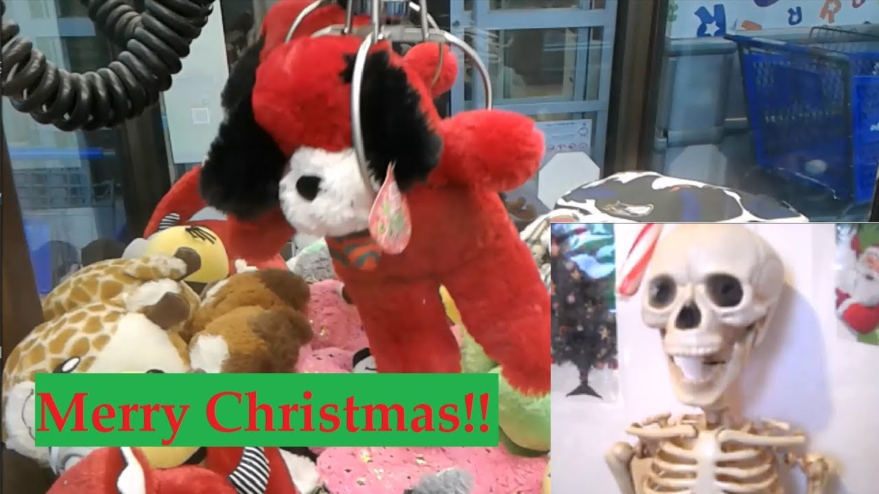 Black Dart Claws Christmas ft. Harry the Skeleton | GamerGreen claw machine skill crane
