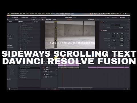 Long Scrolling Text in Davinci Resolve Fusion 15