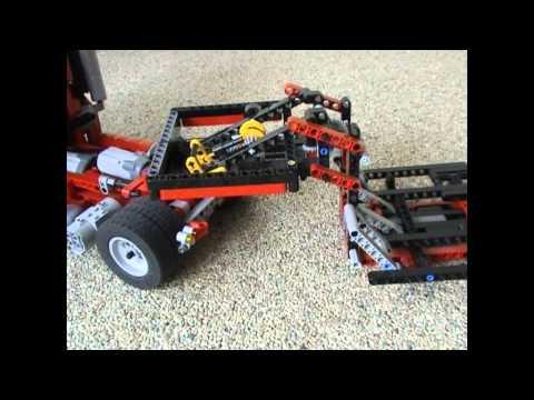 lego technic camion et remorque avec grue doovi. Black Bedroom Furniture Sets. Home Design Ideas