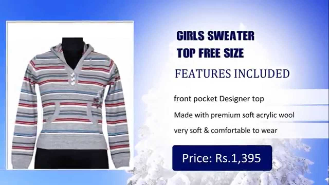 fed214e74 Sweaters for Girls Online Shopping - Buy Girls Sweaters Online India -  YouTube