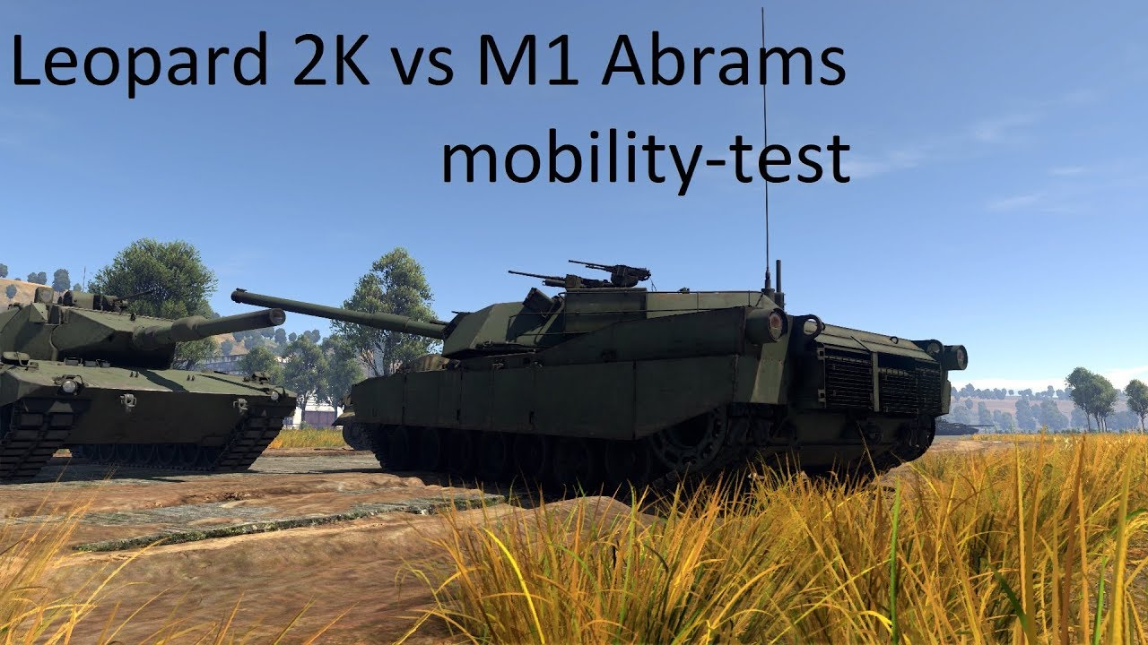 War Thunder // Leopard 2K VS M1 Abrams // mobility-test (outdated)