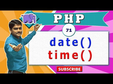 PHP Video Tutorial 71 - PHP Date And Time Functions