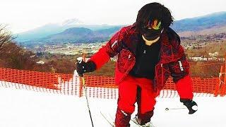 最高級の新幹線でスキーに行ってきました。