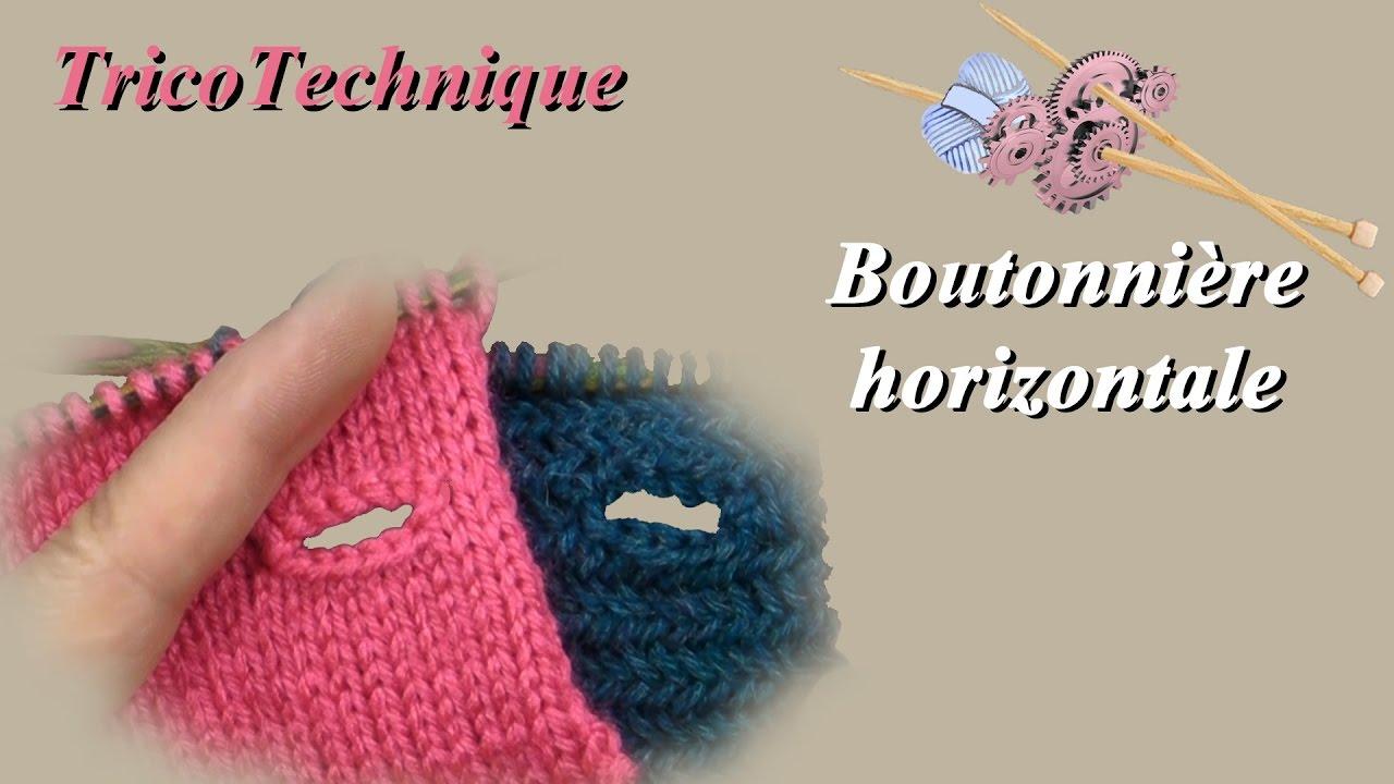faire une boutonniere tricot