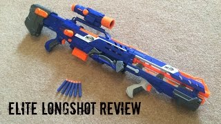 "Nerf N-Strike ""Elite"" Longshot CS-6 Unboxing, Review & Range Test"