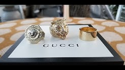 GOLD GUCCI FELINE LION RING REVIEW AND THE #GLD CUBAN LINK BRACELET UPDATE 💎💎💎