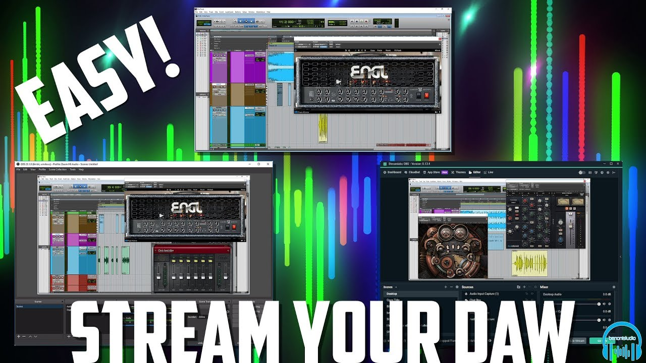 Stream or Record Your DAW EASY w/Two Audio Interfaces