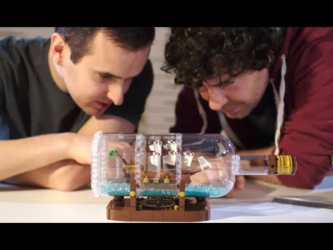 Ship in a Bottle LEGO Designer video | LEGO Ideas | 21313