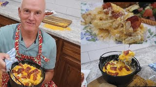 Cheesy Bacon Potato  Dutch Oven For 2