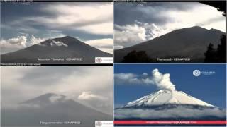 Popocatepetl - 20151228 - 11:00 A 16:34 Hrs