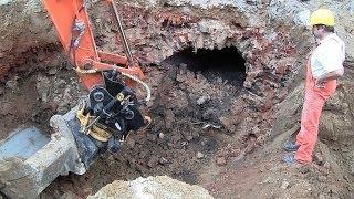 Ondergrondse gang ontdekt tijdens rioolrenovatie in Amstenrade