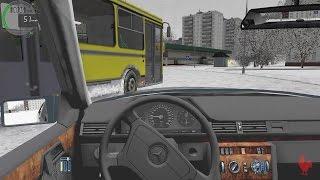 City Car Driving - Mercedes-Benz E320 W124 | Snow Drifting