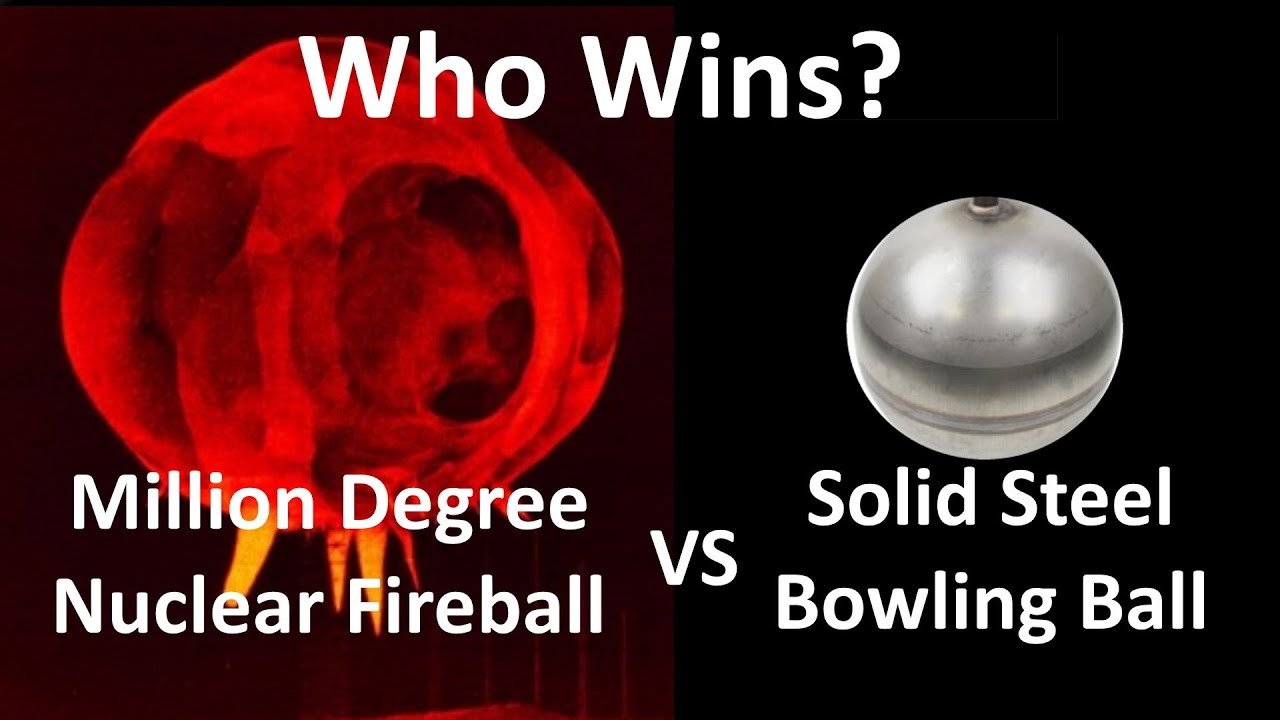 Can A Metal Bowling Ball Survive Inside a Nuclear Explosion?