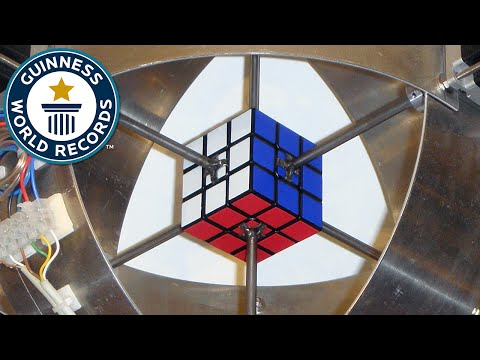 Thumbnail: Fastest robot to solve a Rubik's Cube - Guinness World Records