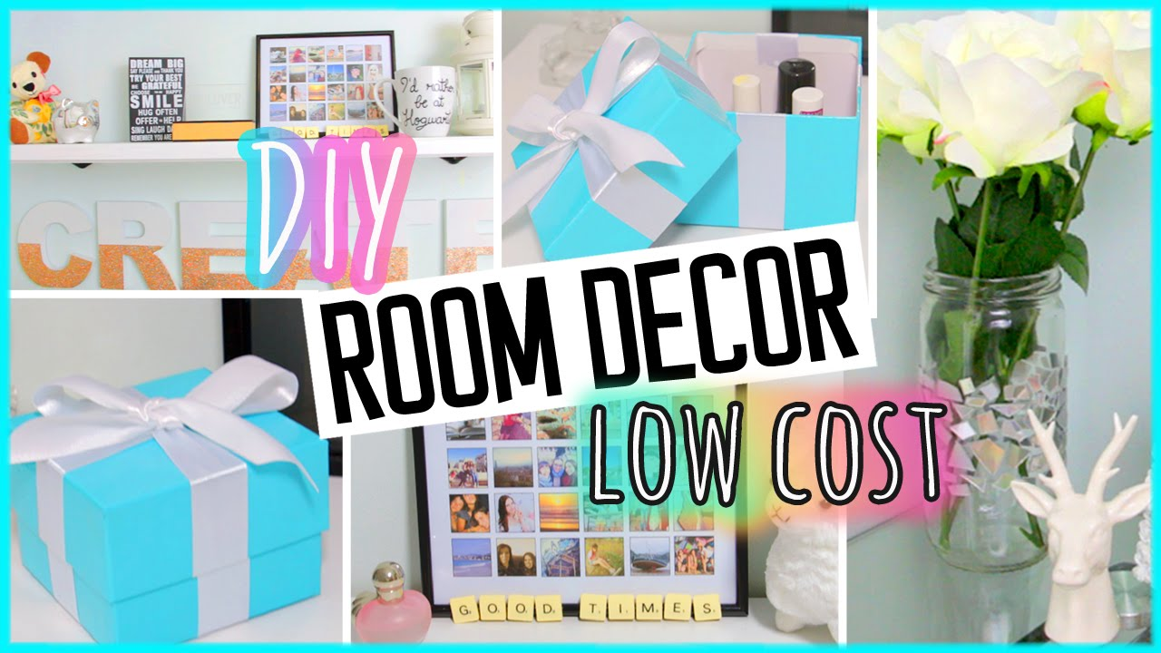 DIY ROOM DECOR! Recycling projects | Low Cost | Cheap ...